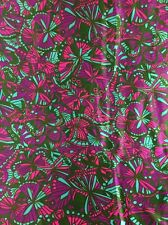 "Vintage Multicolor Butterfly Print Apparel Fabric 3 Yards 25"" X 44"" Wide"