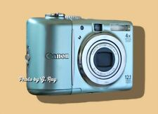 CANON A1100 IS BLUE-MECHANICALLY RECONDITIONED-VIEWFINDER-EASY TO HOLD-LT WEIGHT
