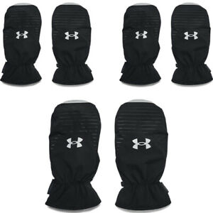 Under Armour Mens Cart Mitts ColdGear Infrared Mitts Leather Palm Golf Mittens