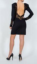 AGAIN Pioneer open back black lace zipper dress L