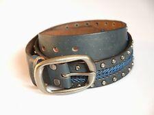 FREDsBRUDER Gürtel Stitch blue blau Leder Größe 95 NEU!