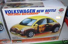 BBURAGO KIT 1/18 VOLKSWAGEN NEW BEETLE BEETLEMANIA GIOCONDA MONNALISA maggiolino
