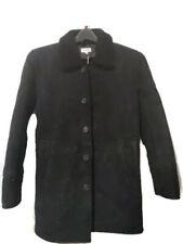 Club Monaco Mens Shearling Coat Black Size Extra Small XS Retail $2,200
