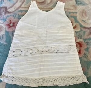 Antique Fancy Victorian Cotton Chemise for French / German Bisque Doll