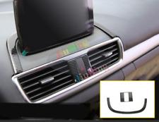 2Pcs For Mazda 3 Axela 2014-17 Carbon Fiber Navigation+Double Flash Cover Trim x