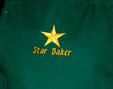 BN STAR BAKER EMBRODIERED COOKS APRON - COTTON DRILL