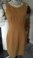 Hobbs brown camel hair wool dress size UK10 - VGC!