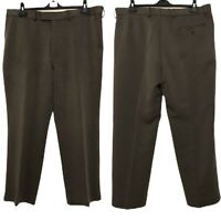 Greenwoods Men Trouser Brown Straight Leg Regular Fit Formal Office Work 40W 30L