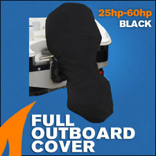 Full Outboard Boat Motor Engine Cover Dust Rain Protection Black - 25hp - 60hp
