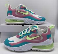Nike Air Max 270 React Women's Size Shoe CW7015-100 White Volt Green Pink sz 7.5