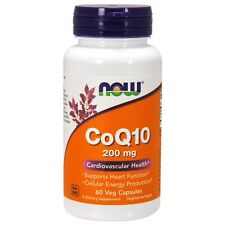 Now Foods CoQ10 - 60 - 200mg Vcaps - Coenzyme Q10 Heart & Immune System Support