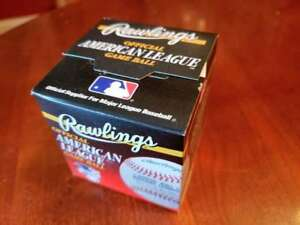 Official Gene Budig American League Baseball Sealed In Box
