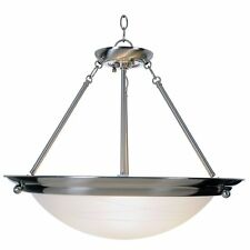 "Monument Lighting Three-Light Hanging Pendant Fixture Brushed Nickel 21""W 560799"