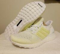 New Adidas Ultra Boost Clima White Solar Yellow Running AQ0481 Mens Size 8.5
