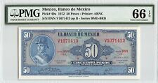 Mexico 1972 P-49u PMG Gem UNC 66 EPQ 50 Pesos