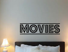Movies Wall Decal Home Theater Vinyl Sticker Film Cinema Decor Quote Poster 767