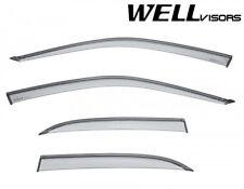 For 99-03 Mazda Protega WellVisors Side Window Visors Deflectors W/ Black Trim