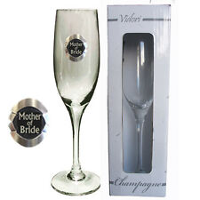 20320 MOTHER OF THE BRIDE 175ml CHAMPAGNE GLASS FLUTE WEDDING TABLE BRIDAL PARTY