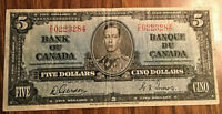 1937 CANADA 5 DOLLARS BANK NOTE - C/C - Gordon / Towers