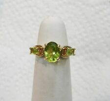 14K YELLOW GOLD PERIDOT RING  SIZE 5 AUGUST BIRTHDAY  N320-L