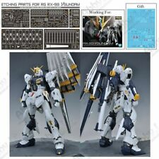 for RG 1/144 RX-93 Nu Gundam AW9 Metal Detail Parts Photo Etch Set S03 w/ Decal