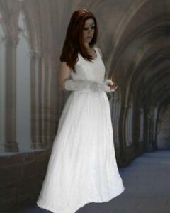 Mittelalter Gothic Kleid Talisha weiß Hochzeit Elbe Brautkleid L/XL 40 42 Neu