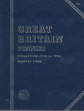Great Britain Pennies 1930-1966 Whitman Folder NOS