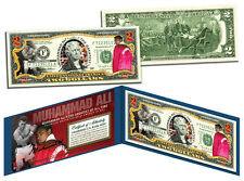 """**MUHAMMAD ALI *""""The Greatest of All-Time""""COLORIZED  *2 DOLLAR BILL RARELY SEEN"""