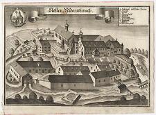 Kloster Niederviehbach: Closter Nidernviepach. - Kupferstich/Wening, um 1723