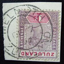 Zululand #16 on Piece tied Melmoth Cancel DEC 7 1897
