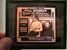 Guile Of Women - Original 1921   Movie Glass Slide - Will Rogers
