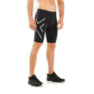 2XU Mens Compression Shorts Pants Trousers Bottoms Black Sports Running Gym