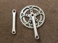 VINTAGE STRONGLIGHT DOUBLE CRANKSET 52/42 BENEFIT FROM A CLEAN AND POLISH UP
