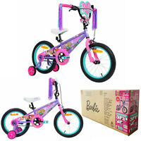 Kids Girls Bicycle Barbie 40cm BMX Glam Design Childrens Ride on Toys Gift Pink