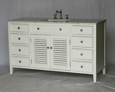 58-Inch Cottage Style Single Sink Bathroom Vanity Model 1128-58 WK