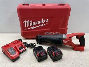 Milwaukee M18CSX-502C 18V 5.0AH Cordless Fuel Sawzall Reciprocating Saw Combo