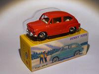 FIAT 600 D rouge  ref 520 au 1/43 de dinky toys atlas / DeAgostini
