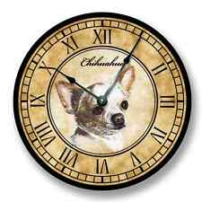 Chihuahua Wall CLOCK - Color Pencil Sketch - Old World Look