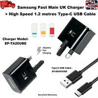 100% Genuine Fast Adaptive Mains Charger & Cable For Samsung Galaxy S8 & S8 Plus