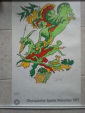 Original vintage Munich 1972 Olympic Games Poster Charles Lapique