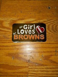 This Girl Loves Her Cleveland Browns NFL Metal Magnet 3.5x2