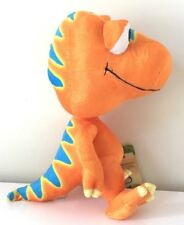 "8"" DINOSAUR TRAIN ORANGE BUDDY PLUSH.PBS KIDS T-REX JIM HENSON. NEW."