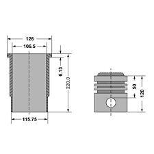 Guarnizione Cilindro Kit SET3 adatto a Stihl 024 024avmotorsaege motosega 42mm
