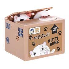 Itazura Coin Bank Shine Toys Stealing Money Piggy Bank White Kitty