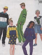 McCall's Polar Gear Sewing Pattern 8973 Kids' Pullover Top Pants Shorts Szs S M