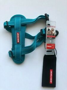 EzyDog Chest Plate Harness TURQUOISE  SMALL,COMES WITH SEATBELT LOOP