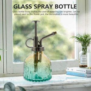 Vintage Mister Water Spray Bottle Glass Garden Plant Flower Watering Pot Can UK