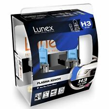Lunex Plasma Xenon H3 Car Headlight Bulb 5000K (Twin)