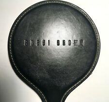 Bobbi Brown Leather Bound Hand Held Paddle Mirror *HTF