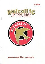 Press Pack - Walsall v Northampton Town 2007/8